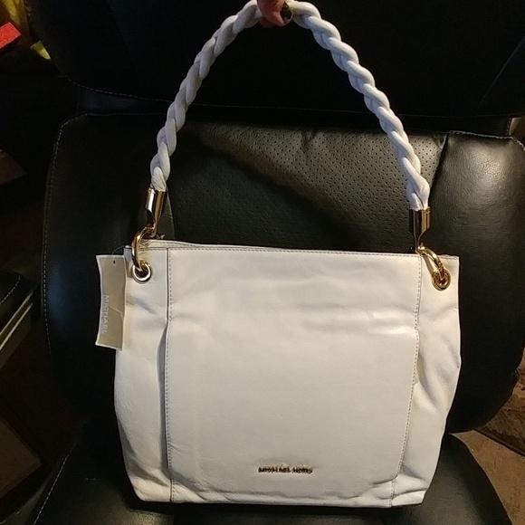 43404c0ca09d ... best price sale michael kors naomi optic white leather bag 18c08 d2d87  ...