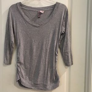 Grey 3/4 sleeved MATERNITY T-Shirt