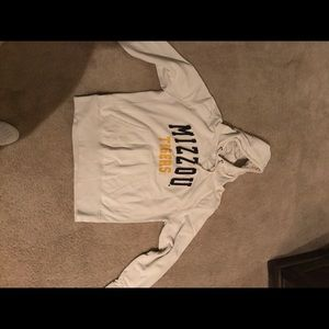 Cream colored Mizzou hoodie