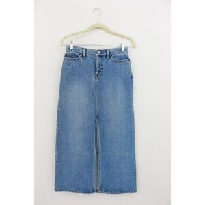 GAP Long Denim Skirt