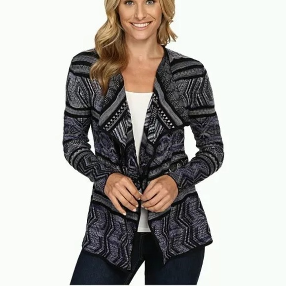 84d79f102dd5b Lucky Brand Lucky Lotus Striped Cardigan Large