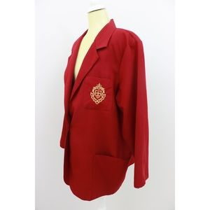 Vintage Haute Oversized Red Blazer