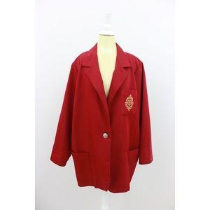 Vintage Jackets & Coats - Vintage Haute Oversized Red Blazer