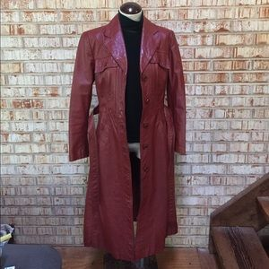Vintage Jackets & Coats - Vintage Leather Trench