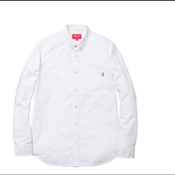 7296d3972d3b78 Supreme Shirts | White Oxford Medium Ss17 Week 1 | Poshmark