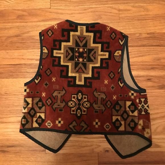 Vintage Jackets & Coats - Southwestern Print Vest