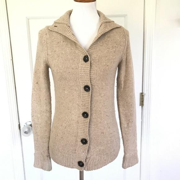 Boden tan wool & alpaca cardigan size 4
