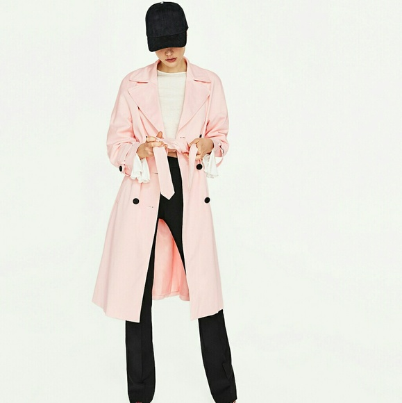 new york big sale get cheap Zara bell sleeve trench coat NWT