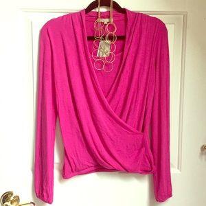 NWT fuschia blouse size small