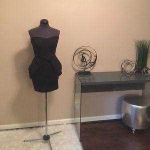 Black strapless dress, LBD