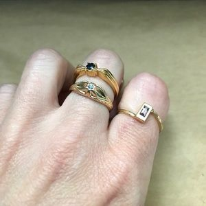 Vintage Jewelry - high quality vintage costume ring lot AVON