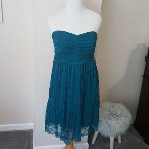 Torrid lace teal dress