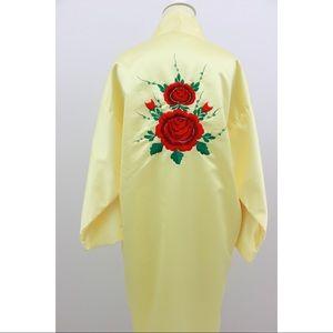 Rose embroidered Kimono Robe🎉SOLD🎉