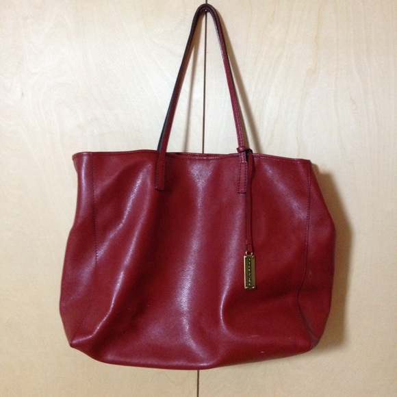 620df3e9652 Rabeanco Bags   Dark Red Leather Tote Hand Bag   Poshmark