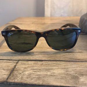 Brown RayBan sunglasses!