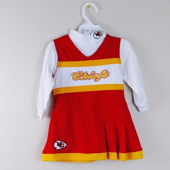 brand new ed79b 523f6 Toddler girls Kansas City chiefs cheerleader