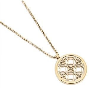 🆕 Michael Kors Monogram Gold Pendant Necklace