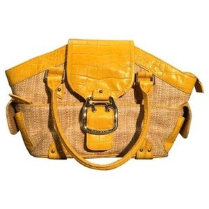 Cole Haan basket yellow trim satchel Amanda