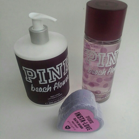 7aa1973cd3664 New Victoria secret Pink beach flower lotion mist NWT
