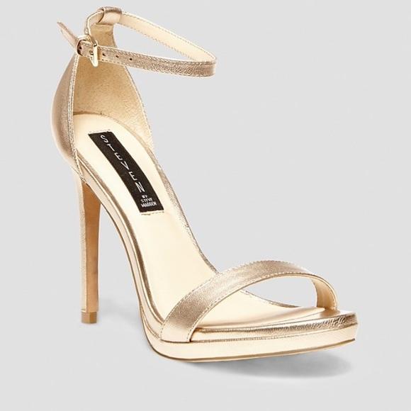 5ec7831444b Steve Madden Gold Strappy Heels size 6.5