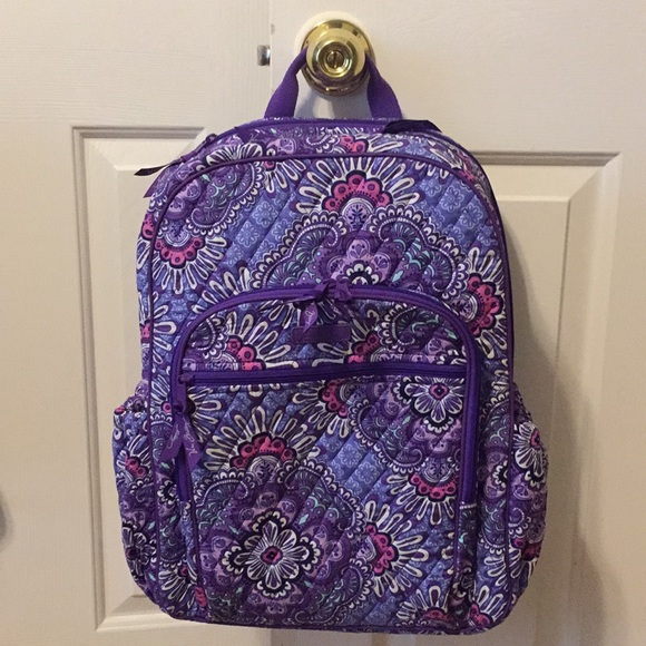aaeb1a2c1cf6 Vera Bradley Campus Tech Backpack Lilac Tapestry