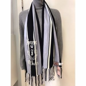 JUICY COUTURE BLUE FRINGE SCARF