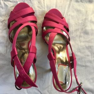 Ruby/pink color sandals