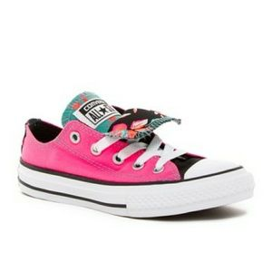 Shoes - Converse All Star Double Tongue Hot Pink and Teal