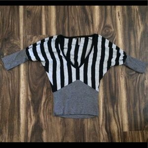 Poof Striped Sweater M