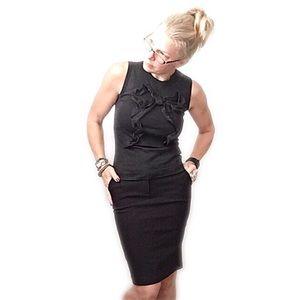 Dolce & Gabanna black sleeveless bow top sz 42