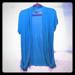 Rue 21 size xl blue shrug short sleeve