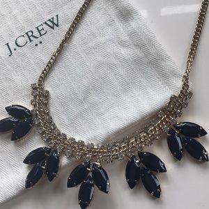 J. Crew Jewelry - J. Crew Navy Crystal Necklace