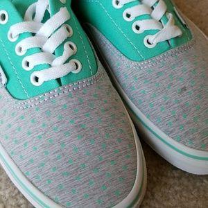 5216371ac2 Vans Shoes - Van s Brand New Mint Green and Grey Polka Dots