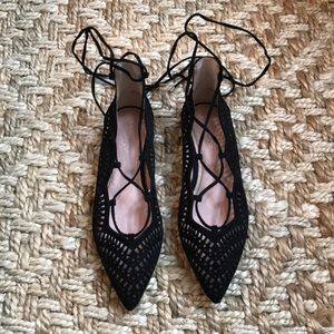 Lace-Up Flats NWT