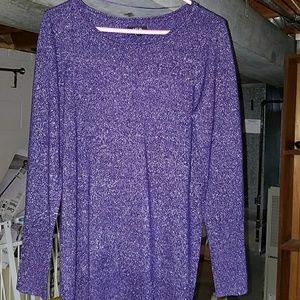 Glittery purple sweater