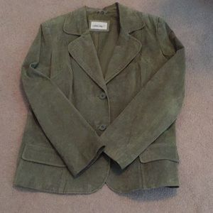 Green Suede Blazer XL
