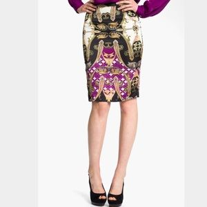 Vince Camuto Stretchy Paisley Pencil Skirt