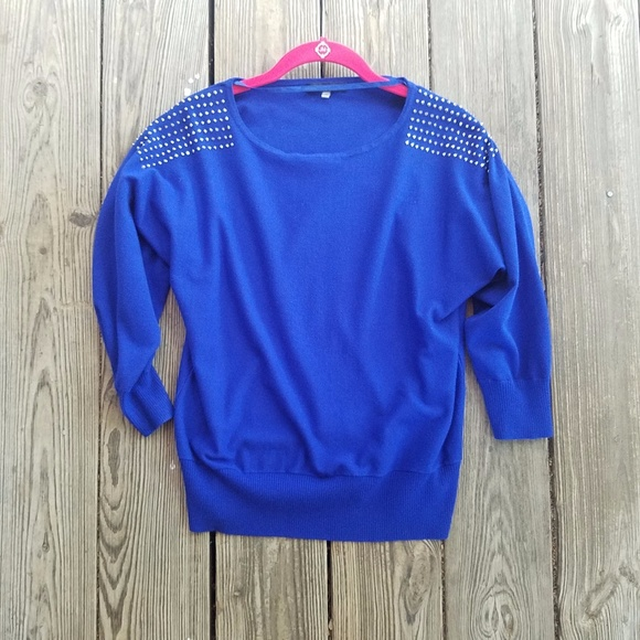 Cable & Gauge Sweaters | Cable And Gauge Stud Shoulder Sz L Dolman ...