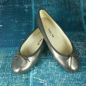 London Sole Sz 37 Bronze Ballet Flats in GUC