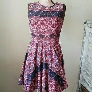 Maison Jules lace print dress size S