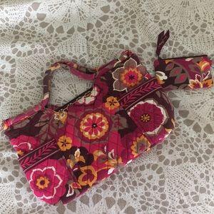 Vera Bradley Carnaby print handbag and zip ID case
