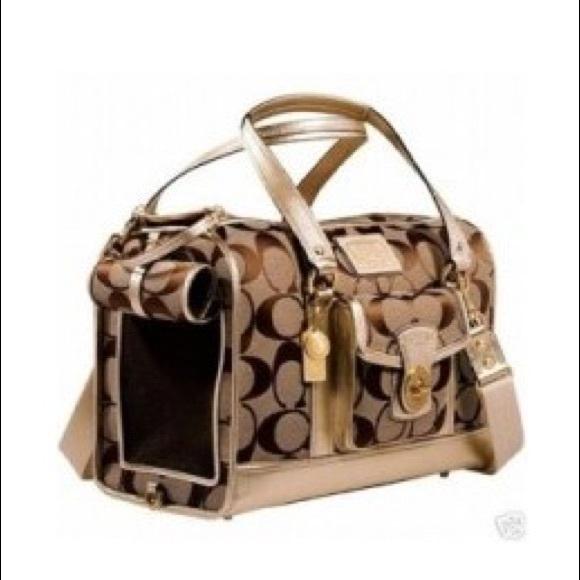 Coach pet carrier purse