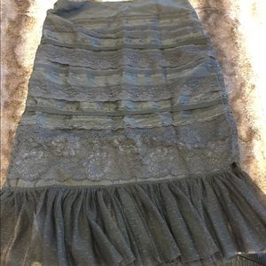 Express size 5/6 silk lace skirt with tulle black