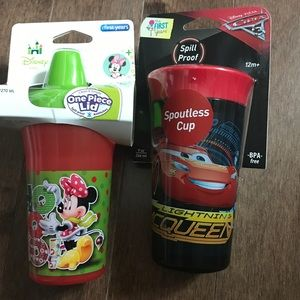 Brand new cups. Mickey and cars