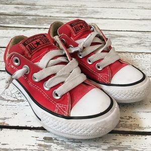 Converse Shoes - Unisex Red Converse Slip on Chuck Taylors 10.5