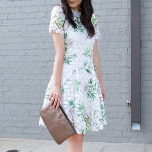 Dresses & Skirts - Crochet Floral Flare Dress