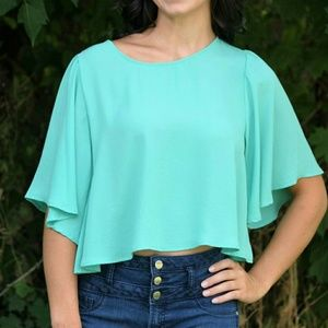 Everly Mint Top