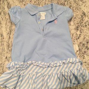 Ralph Lauren Baby girl baby blue dress