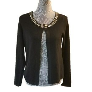 BANANA REPUBLIC jewel rhinestone wool cardigan