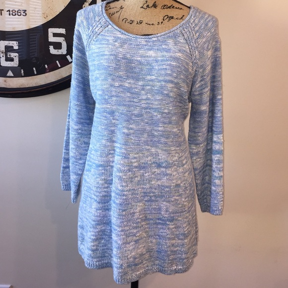 985539f4cd Women s Sonoma Blue Space Dye Marled Swing Sweater